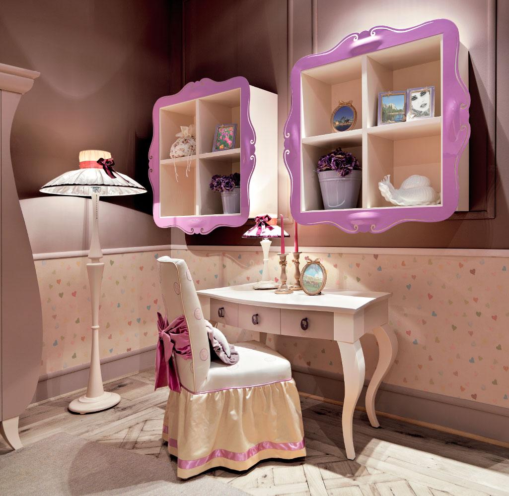 camerette classiche e romantiche per ragazzi complementi
