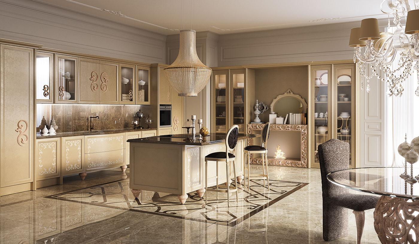 Cucina classica per arredamento classico zona giorno di for Arredamento casa particolare