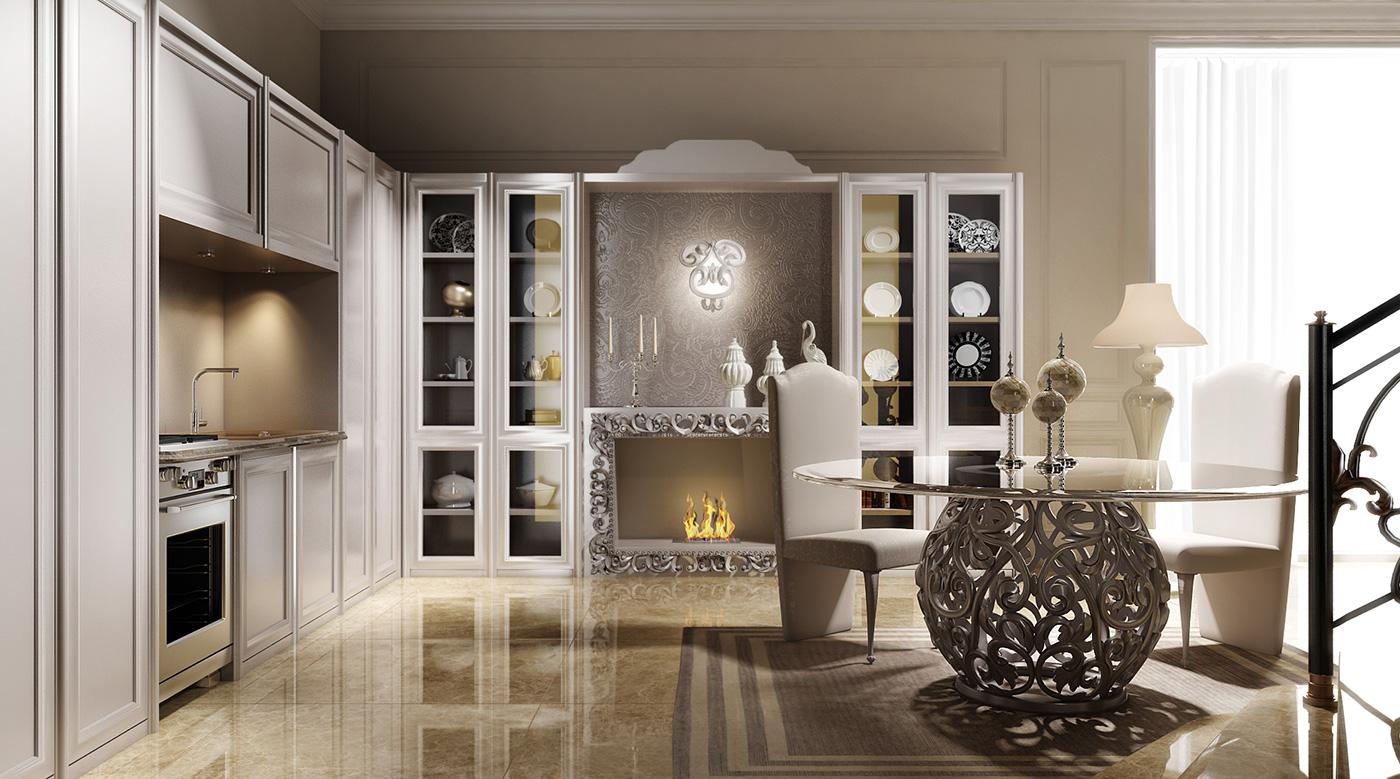 Cucina classica per arredamento classico zona giorno di for Arredamento case classiche