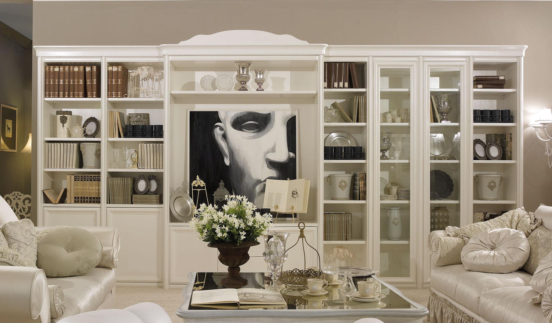 Arredamento soggiorno librerie idee per interni e mobili for Arredamento per librerie