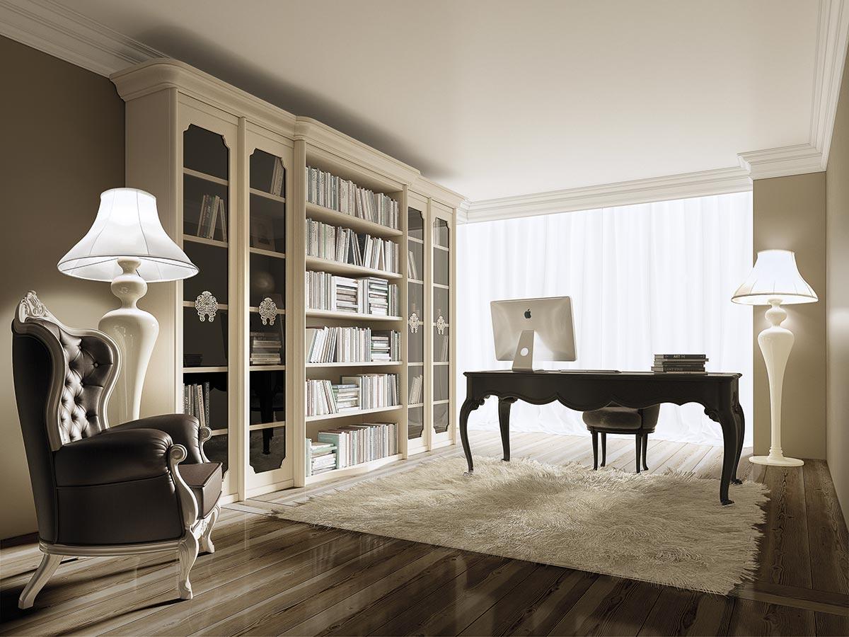 Sedie Soggiorno Classico : Librerie classiche per l arredamento classico del